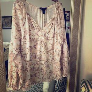 Printed Peasant Blouse